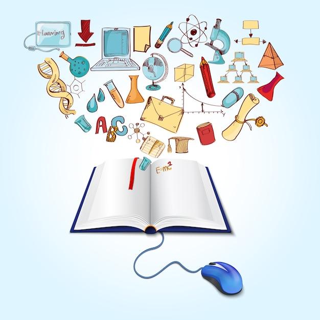 Концепция интернет-образования Бесплатные векторы