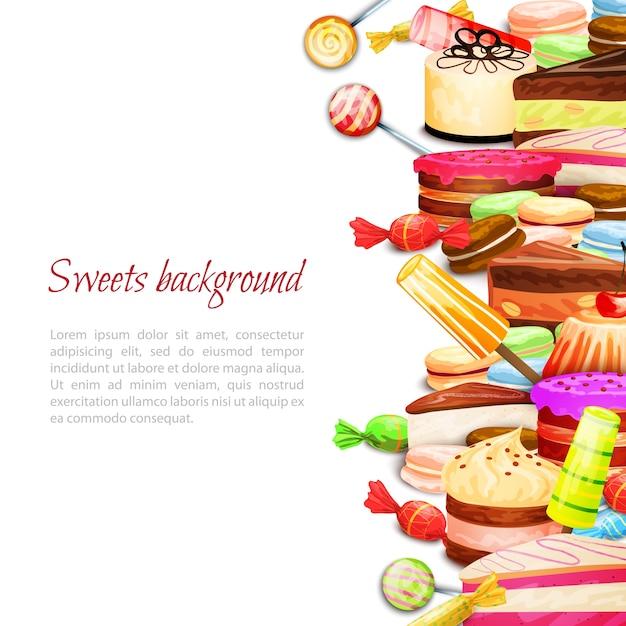 История сладкой пищи Бесплатные векторы
