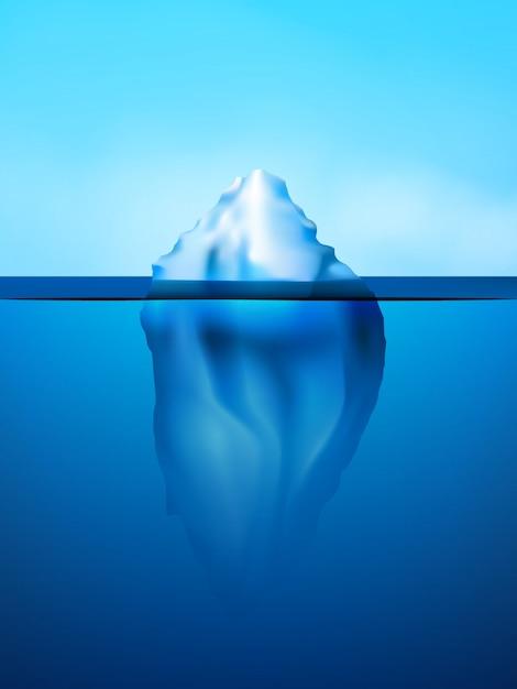 Иллюстрация фона айсберга Бесплатные векторы