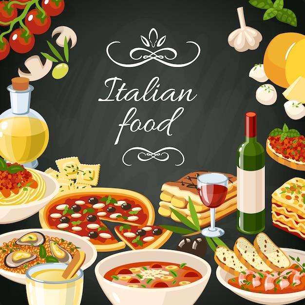 イタリア料理のイラスト ベクター画像 無料ダウンロード