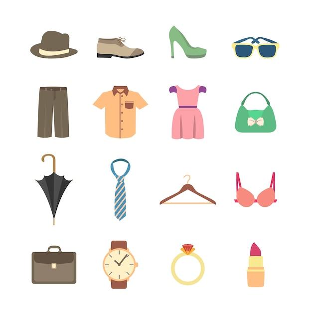 ファッション要素のコレクション 無料ベクター