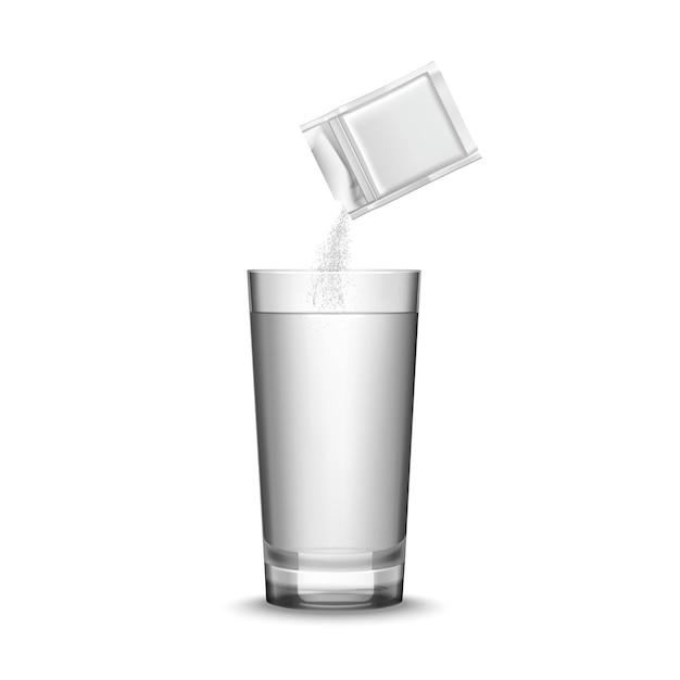 薬とガラスのイラスト 無料ベクター