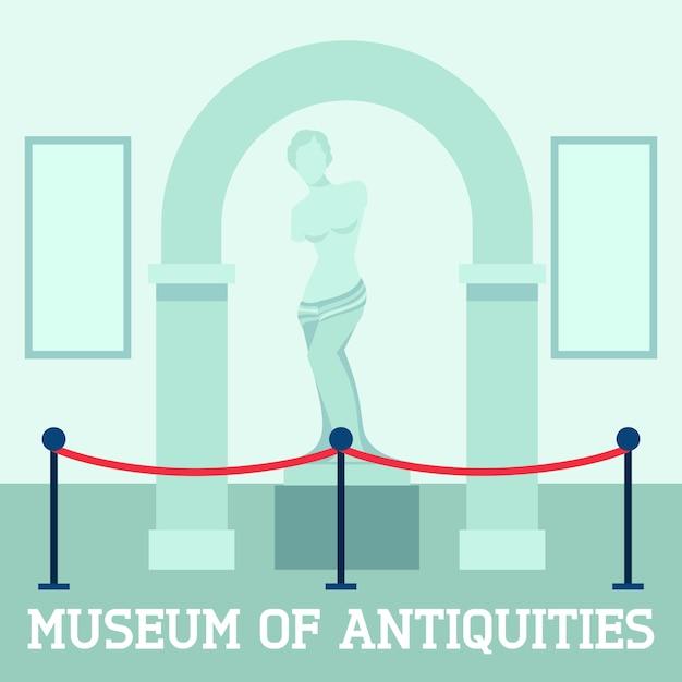 Музей древностей плакат Бесплатные векторы