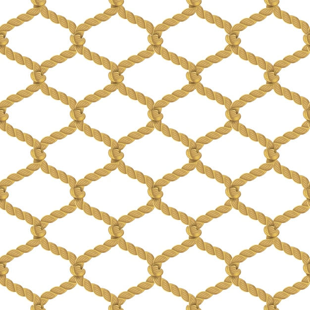 Бесшовный узор из веревочной сетки Бесплатные векторы