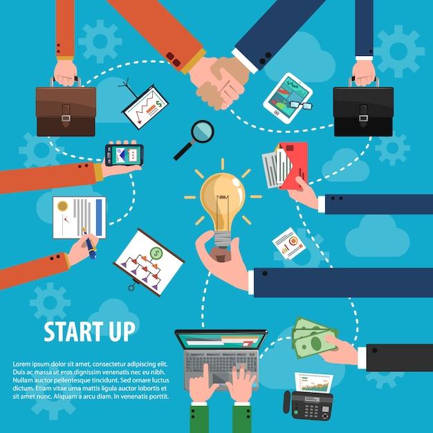 Концепция бизнес-идеи Бесплатные векторы