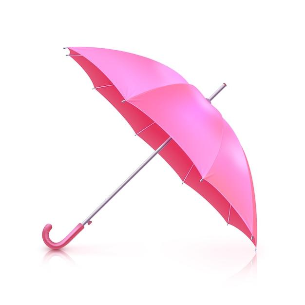 ピンクの現実的な傘 無料ベクター
