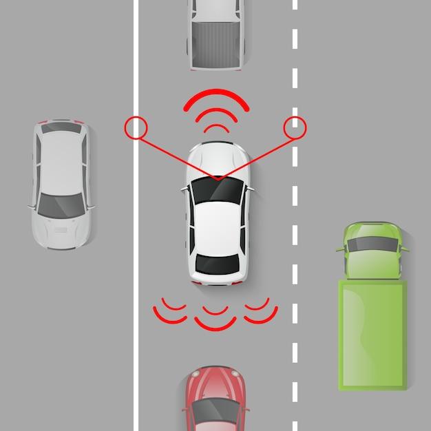 Система безопасности автомобиля Бесплатные векторы