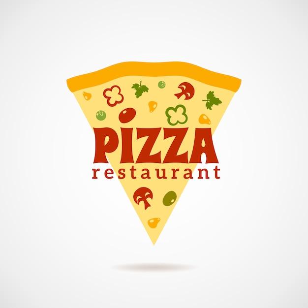 ピザのロゴイラスト 無料ベクター