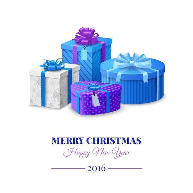 Красочные подарочные коробки Бесплатные векторы