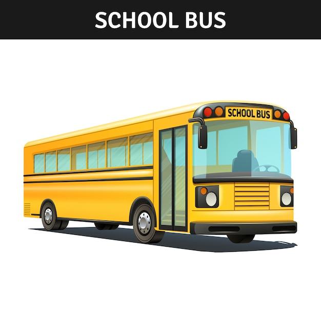 スクールバス 無料ベクター