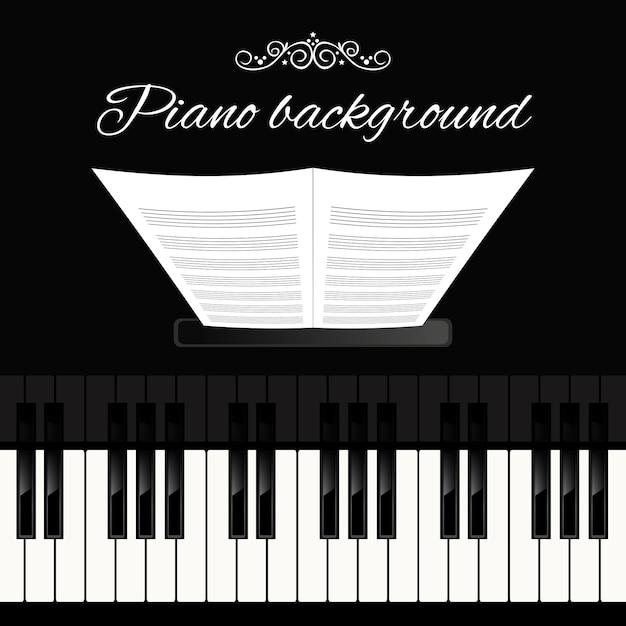 Фортепиано фон Бесплатные векторы