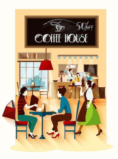 Концепция кофе-хауса Бесплатные векторы