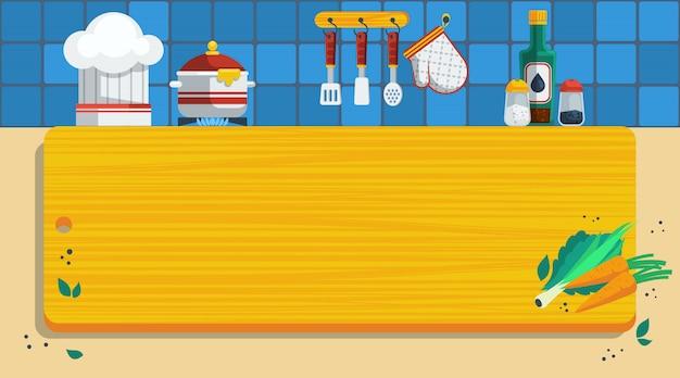 キッチンの背景イラスト 無料ベクター