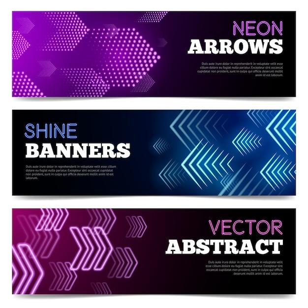 Набор световых баннеров Бесплатные векторы