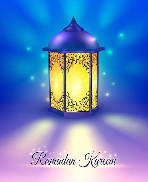 Рамадан цветной плакат Бесплатные векторы