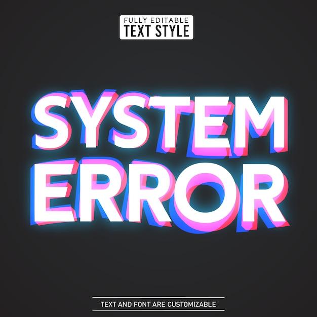 グリッチデジタルノイズシステムエラー歪み現代のクールな効果テキストフォントコレクション書体アルファベット文字、数字、記号 Premiumベクター