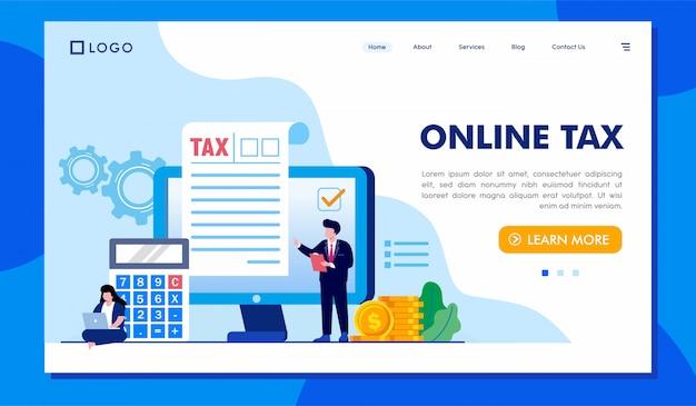 オンライン納税先ページのウェブサイトの図 Premiumベクター