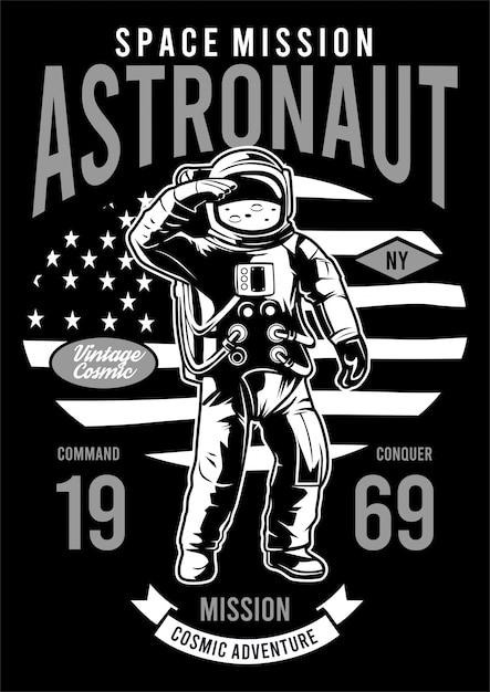 宇宙飛行士の設計図 Premiumベクター
