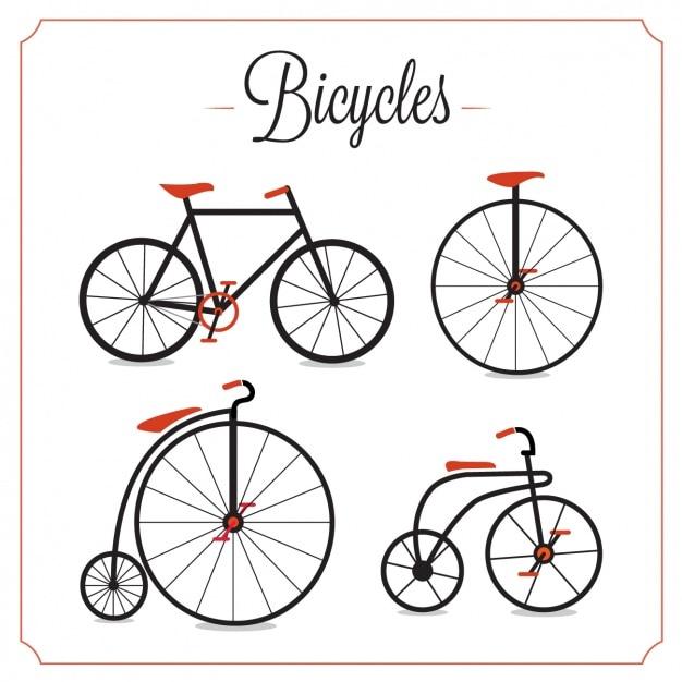 ヴィンテージ自転車コレクション 無料ベクター
