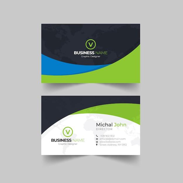 Шаблон креативной визитки Premium векторы