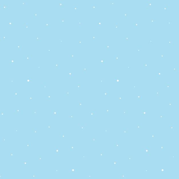 青色の背景に白い雪のシームレスパターン Premiumベクター