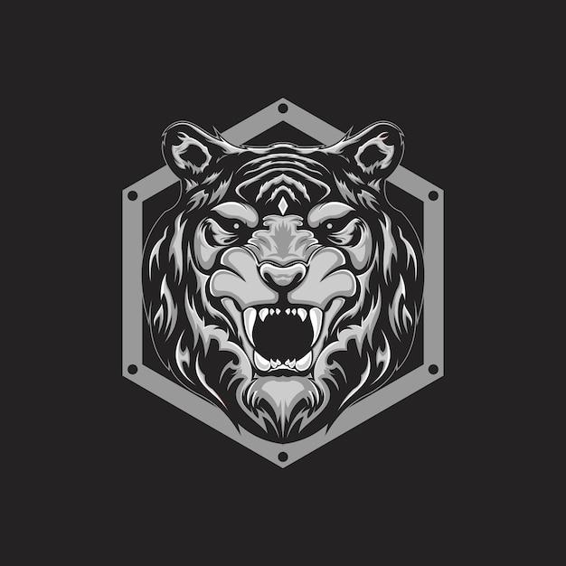 虎の頭 Premiumベクター