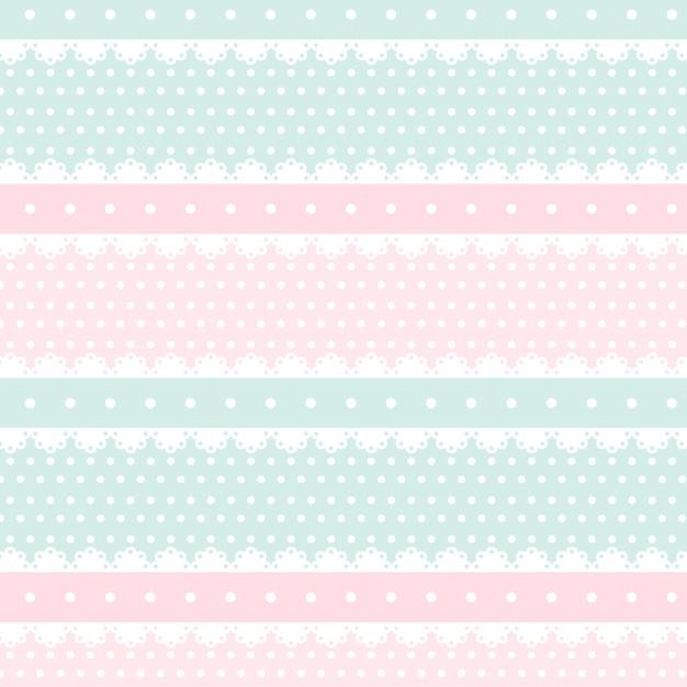かわいいかわいいピンクとライトグリーンのシームレスパターン Premiumベクター