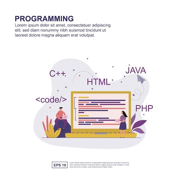 プログラミングコンセプト Premiumベクター