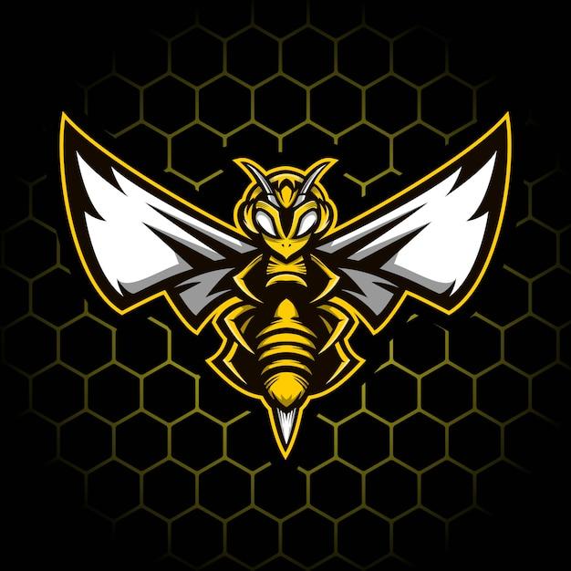Иллюстрация талисмана пчелы Premium векторы