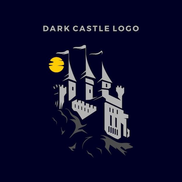 Темный замок логотип Premium векторы