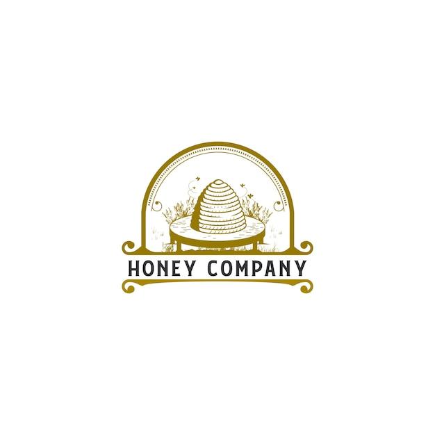 Улейный винтажный логотип Premium векторы