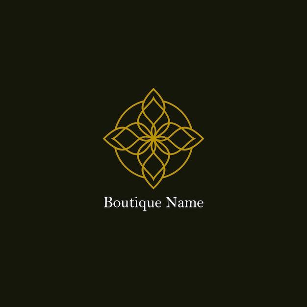 Бутик цветочный логотип Premium векторы