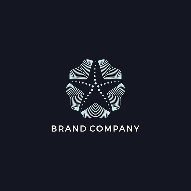 Звездный современный логотип Premium векторы