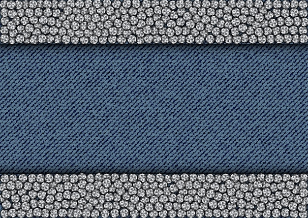 Блестящие полоски на джинсовой ткани Premium векторы