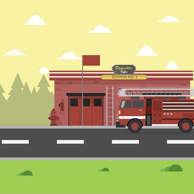 пожарная станция картинки детям линии расположения направляющего