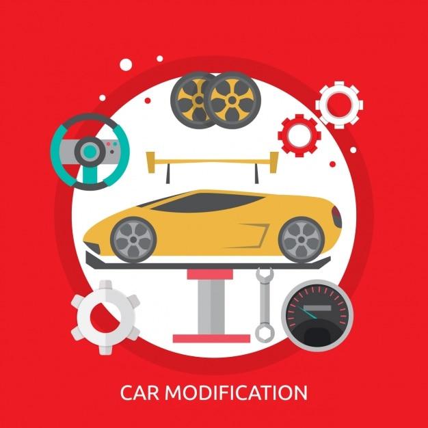 Дизайн автомобиля Бесплатные векторы
