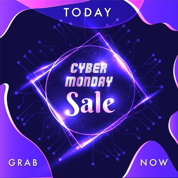 Кибер-понедельник. Premium векторы