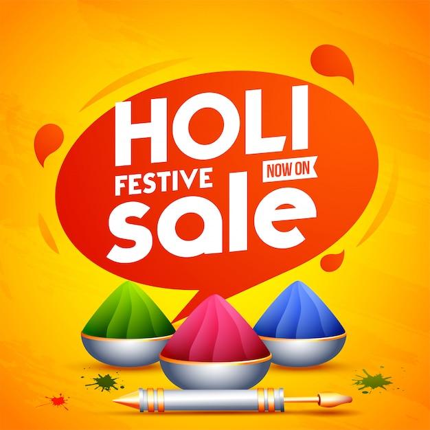 オレンジ色の背景に隠れての祭りの要素を持つ広告ポスターデザイン Premiumベクター