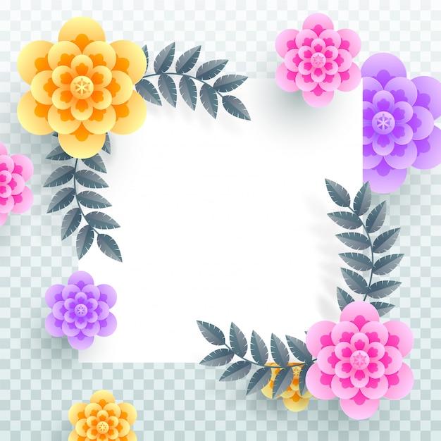 Красочные бумажные цветы. Premium векторы