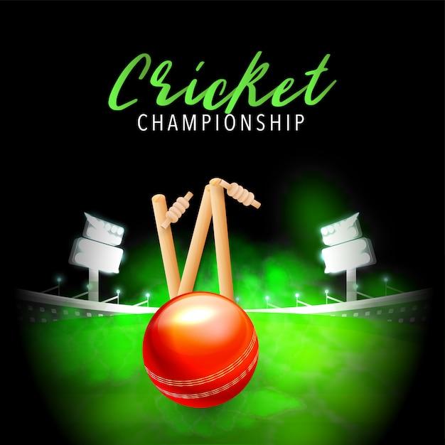 Крикет фон. Premium векторы
