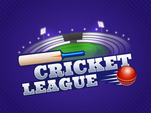 Крикет чемпионат концепция. Premium векторы