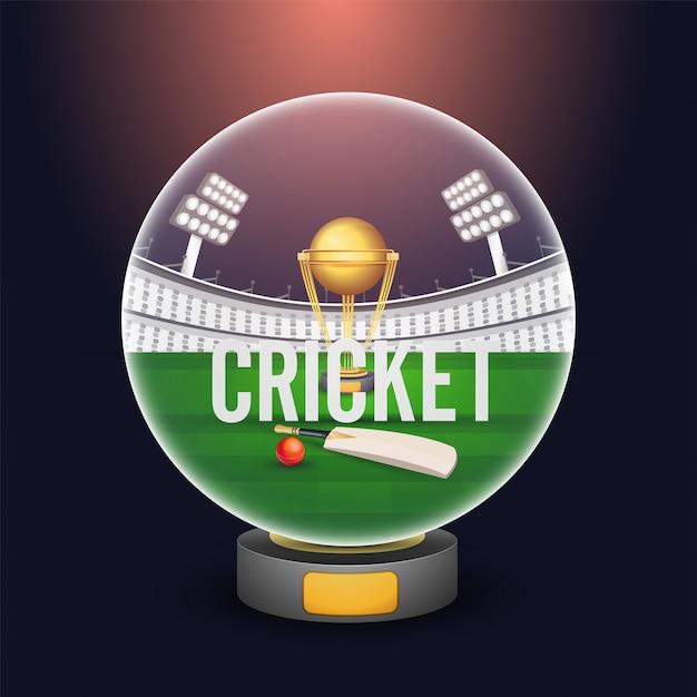 クリケット選手権の背景。 Premiumベクター