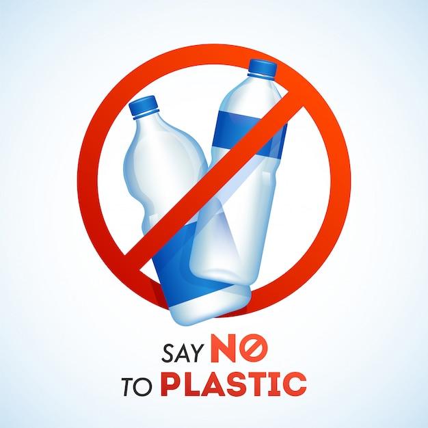 Скажи нет запрету пластиковых бутылок Premium векторы