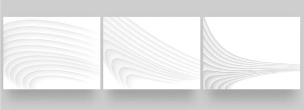 Белая книга абстрактный фон дизайн набор Premium векторы