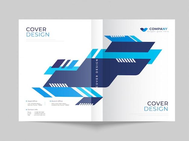 ビジネスや企業向けのプロモーションカバーテンプレートデザイン。 Premiumベクター