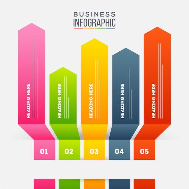 ビジネスのインフォグラフィック。 Premiumベクター