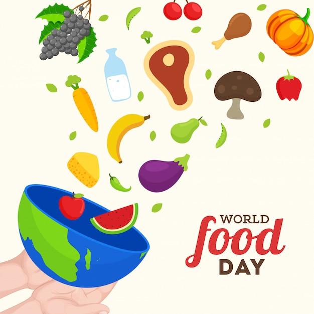 Всемирный день продовольствия концепция. Premium векторы