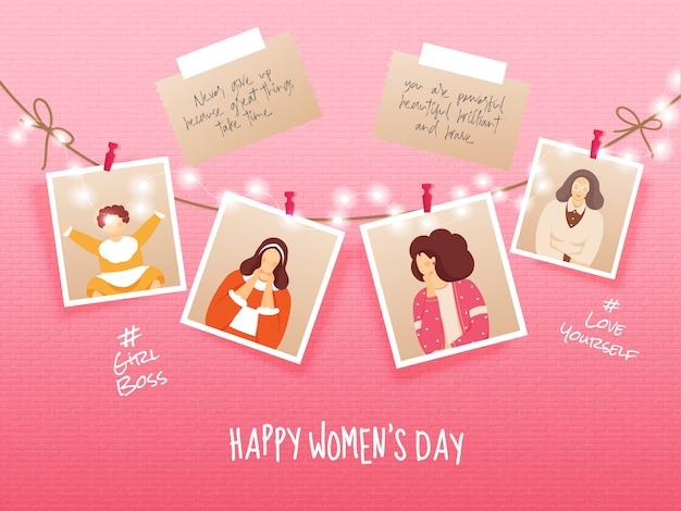 Международный женский день фон. Premium векторы