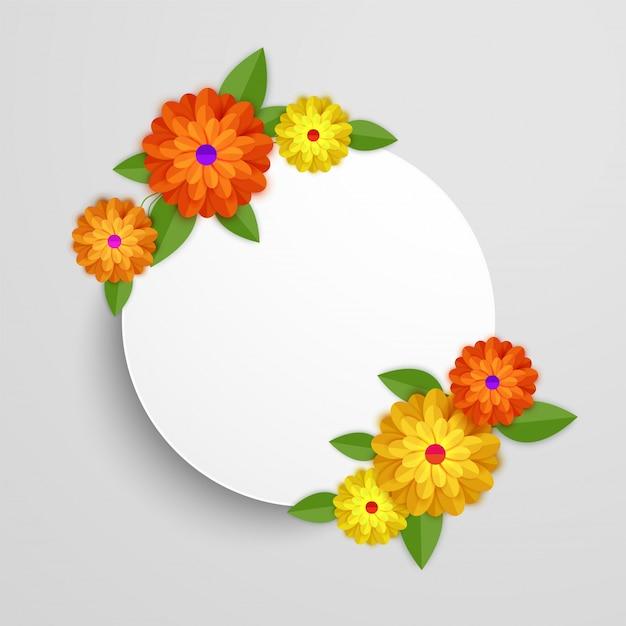 カラフルな紙の花。 Premiumベクター