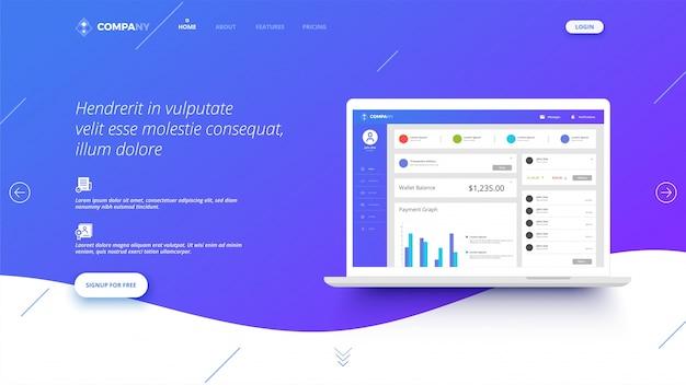 Изображение героя для сайтов или приложений. Premium векторы